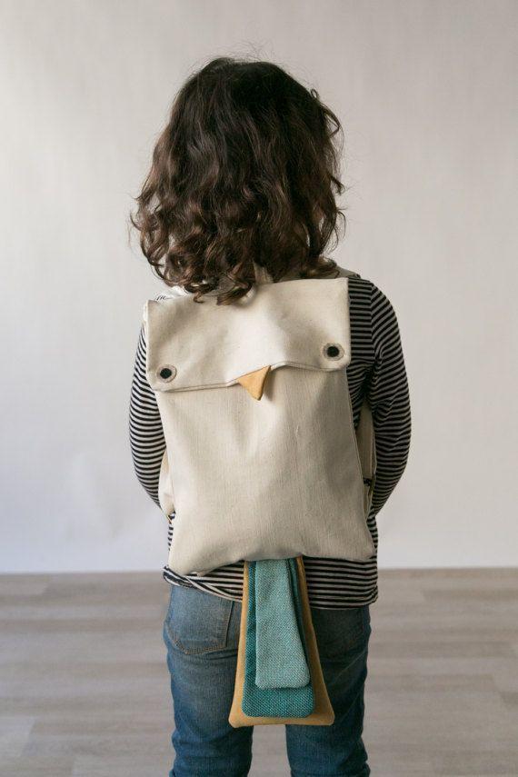Bird Children Backpack #accessories #hat #beige #babyshower #brown