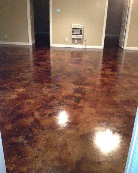 Coffee Brown Acid Stain Floors. This site is the most helpful I've found so far.