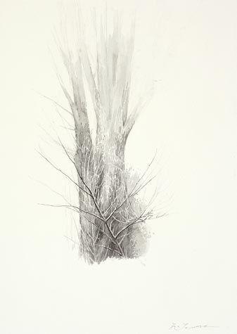 Shigeki Tomura. Mizusawa, Autumn, 2012. Watercolor. 13 x 9 1/2 inches.