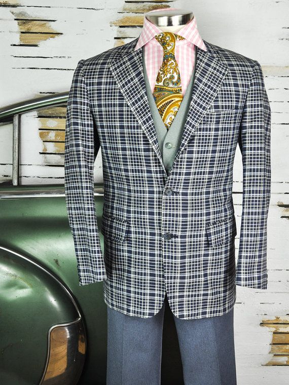 42 Long Refined Charcoal Gray Men's Lightweight Wool Union-Made Blazer with Pinstripes and Full Lining mBBKwy