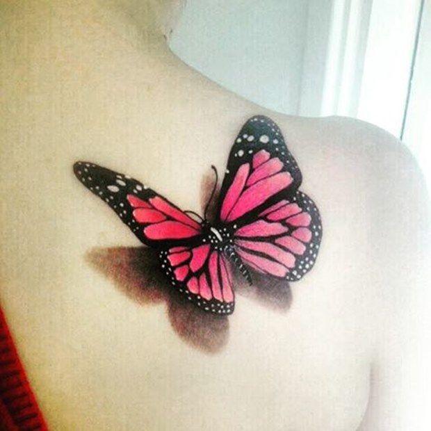 Butterfly 3d Tattoo Designs For Girls