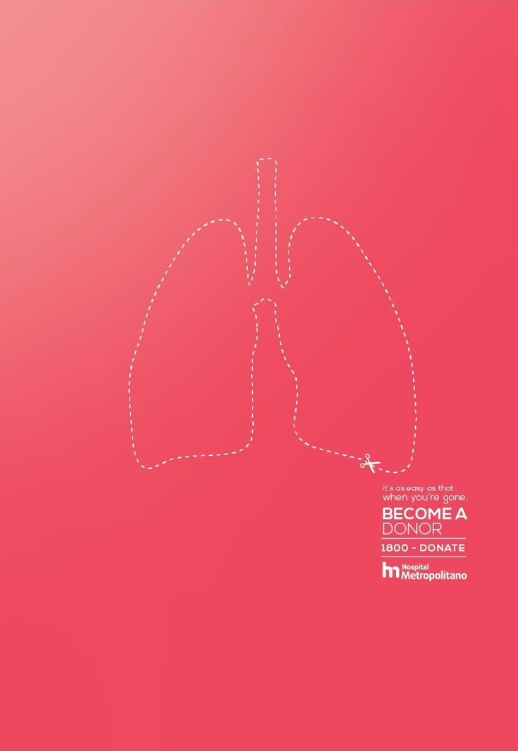"""It's as easy as that when you're gone. Become a donor."" - Hospital Metropolitano"