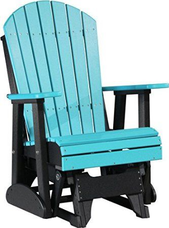 Poly Adirondack Glider Chair $445.00 - When it comes to panache in furniture, very few can claim to even come close to the famed Amish craftsmen. This offering from these craftsmen is no different. Available in over 15 vibrant color combinations, this Adirondack glider would certainly be a value addition to your home furniture. It is an ideal chair to keep outdoors, considering that its UV stabilized exteriors are immune to fading despite constant exposure to sun.