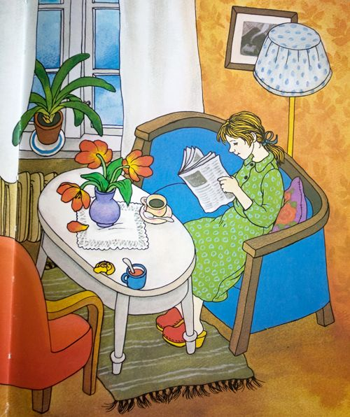 Lotta on Troublemaker Street (Swedish: Lotta på Bråkmakargatan) by Astrid Lindgren (1907-2002), illustrated by Swedish artist and illustrator Ilon Wikland