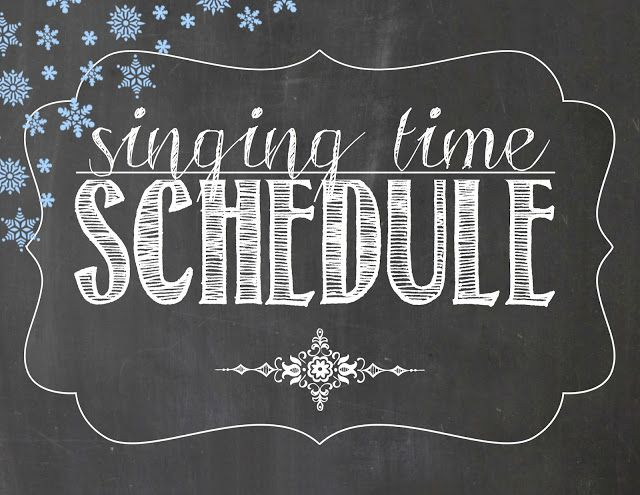 Camille's Primary Ideas: January 2018 Singing Time Schedule