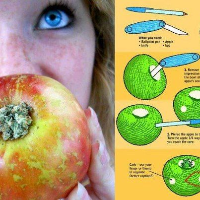 Apple Pipe -- the best kind of pipe. smoking piece and munchies all in one.