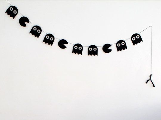 DIY Pac-Man Halloween Garland — Mini-eco