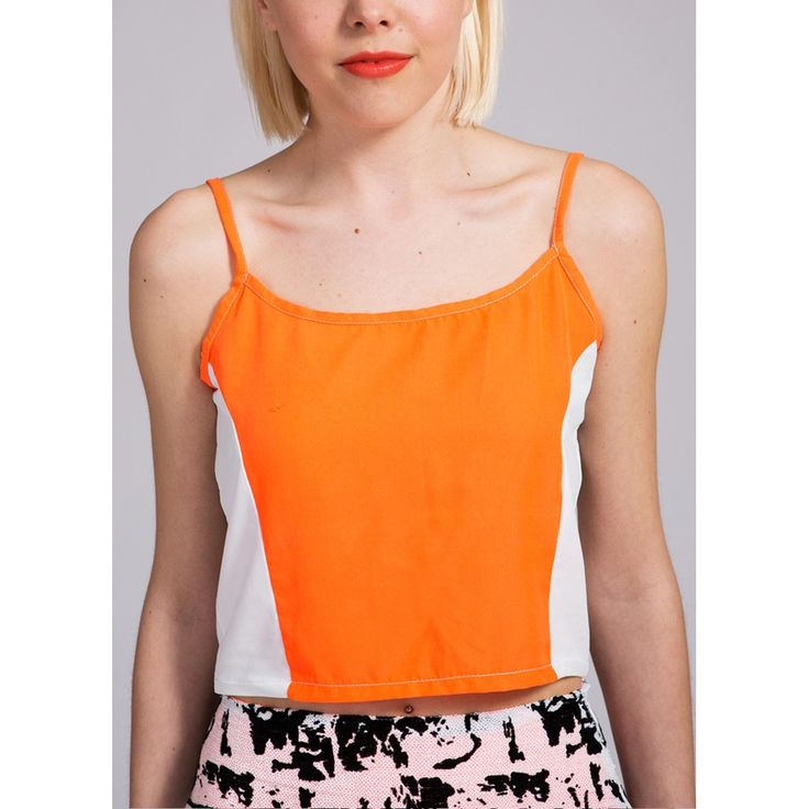 Neon Orange Cami Top