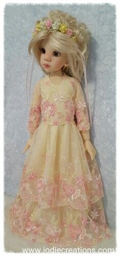 Embroidered lace for Kaye Wiggs MSD size Dolls  Www.jodiecreations.com