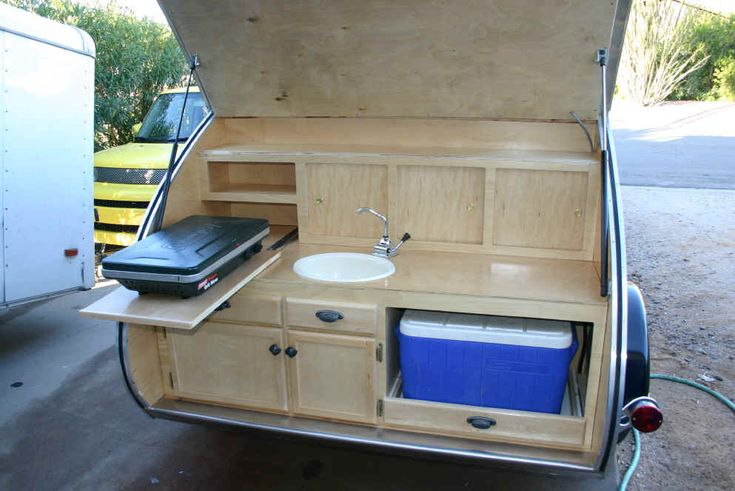 No sink - take out the stuff on the right and put up coat hooks and this is the perfect galley!