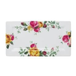 Royal Albert Country Rose Serving Tray, 14-Inch by 7-1/2-Inch