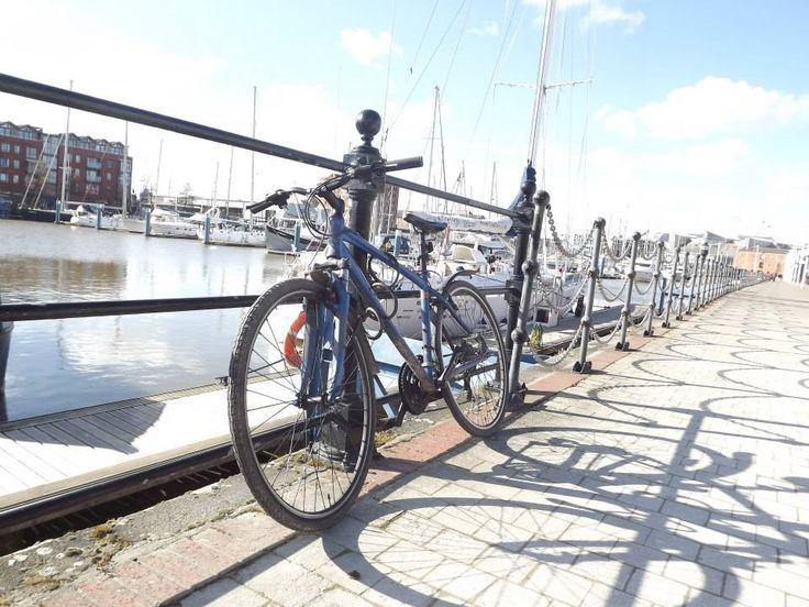 Bike on the docks.