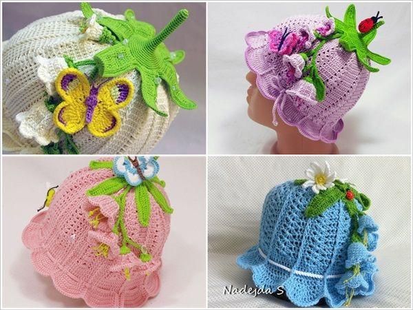 DIY Crochet Adorable Baby Bluebell Hats