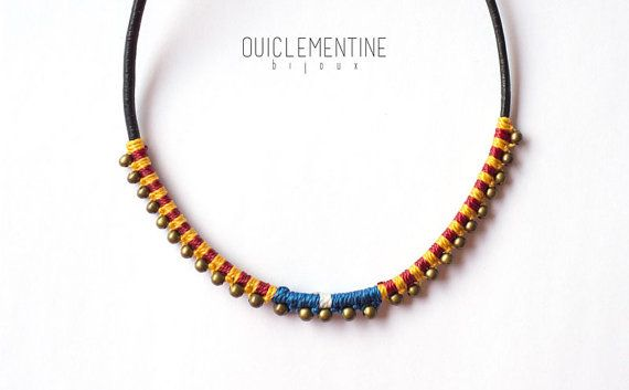 Catalan necklace independence choker red and by OuiClementine