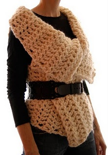 Free Magnum Reversible Crochet Vest/Wrap Pattern. Add some sleeves to this,  make it longer and call it good