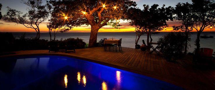 Sunset dinner on deck