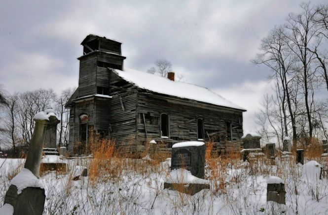 old abandoned church  u0026 graveyard