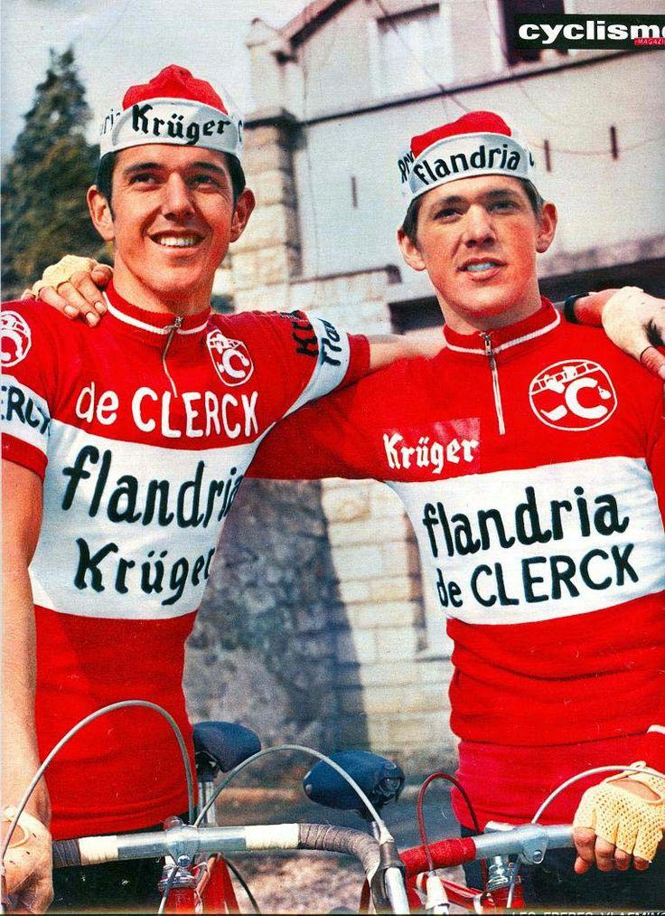 Roger De Vlaeminck avec Eric son frère