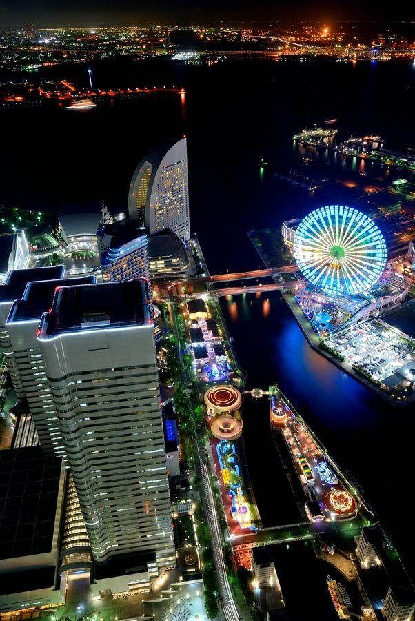 Night scene in Yokohama, Kanagawa, Japan