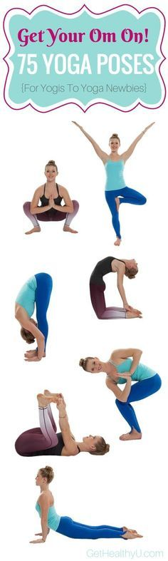 75 yoga pose to take your practice to the next level! Photos + How To! #yoga #workout