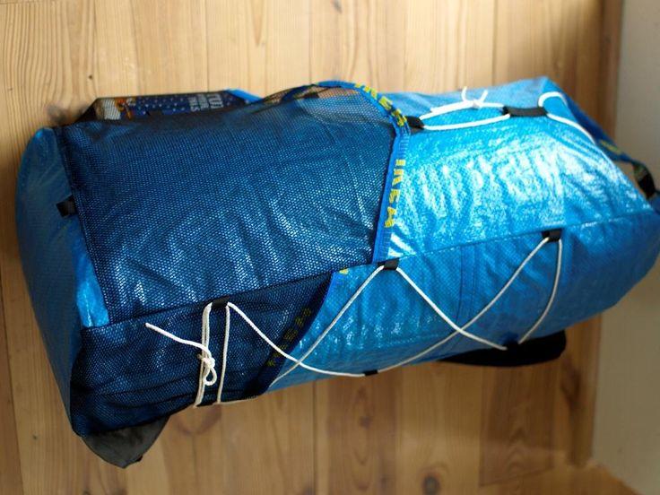 Der HackPack u2013 ein ultraleichter Wanderrucksack aus einer Ikeatasche : Diy backpack