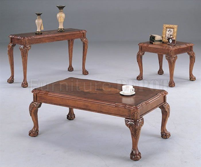 traditional coffee table | Deep Brown Traditional Coffee Table with Shell Design Inlays CRCT 349 ...we own similar end tables and I believe the coffee table that goes with is square