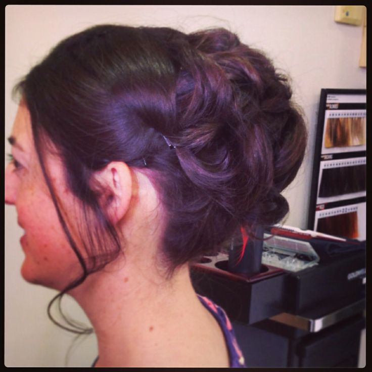 Upstyle for a guest high messy bun