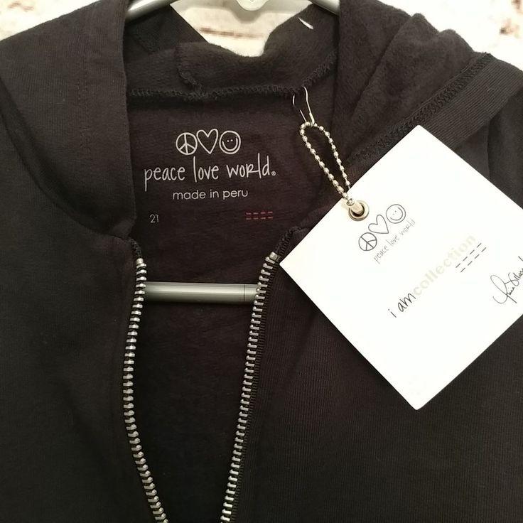 "On Sale! Peace Love World ""I Am Love"" Hoodie Jacket 2T Black Heart Smiley Black  #PeaceLoveWorld #Jacket"