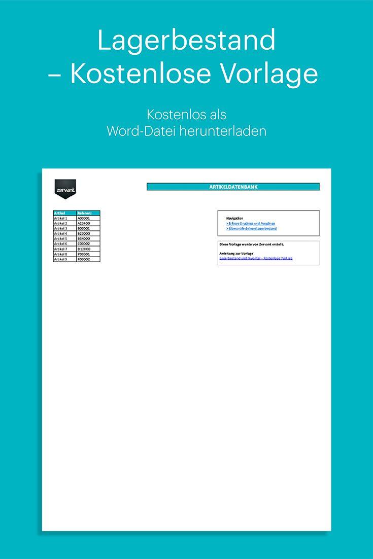 Lagerbestand Und Inventar Kostenlose Vorlage In Excel Excel Vorlage Kostenlose Vorlagen Vorlagen
