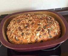 Rezept Dinkel-Vollkornbrot mit Saaten (weizenfrei) für Zaubermeister von doughman - Rezept der Kategorie Brot & Brötchen