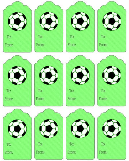 Printable Soccer Gift Tags - Printable Treats