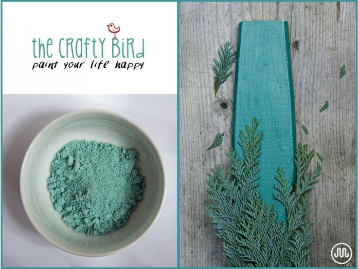 Mléčná barva JOE'S MORRIS MINOR zeleno-modrýodstín od The Crafty Bird Milk Paint.