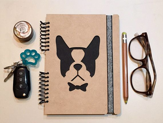 French Bulldog Notebook, Journal, notebook, diary, sketchbook, memory book, scrapbook, gift, dog lover, new puppy, dogs, wood notebook, dog  Wood