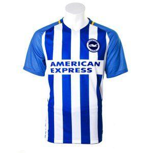 Brighton & Hove Albion FC 2017-18 Season Home Blue Shirt Jersey [K570]