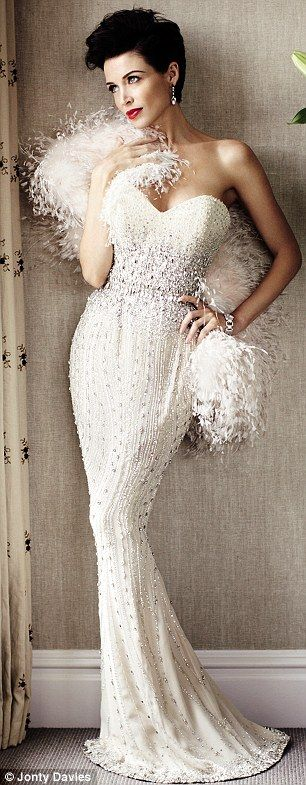 #White Evening Gown