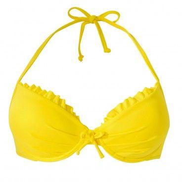 JINO Maillot de bain push up jaune | RougeGorge