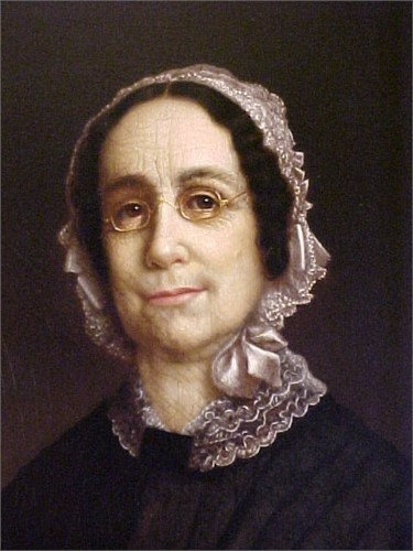 """""""Mrs James Bradford, """"Margaret Flint (1786-1855) by Nelson Cook (Margaret was married to Rev James Bradford and lived in Sheffield,Massachusetts. (This is one of my favorite portraits!)"""