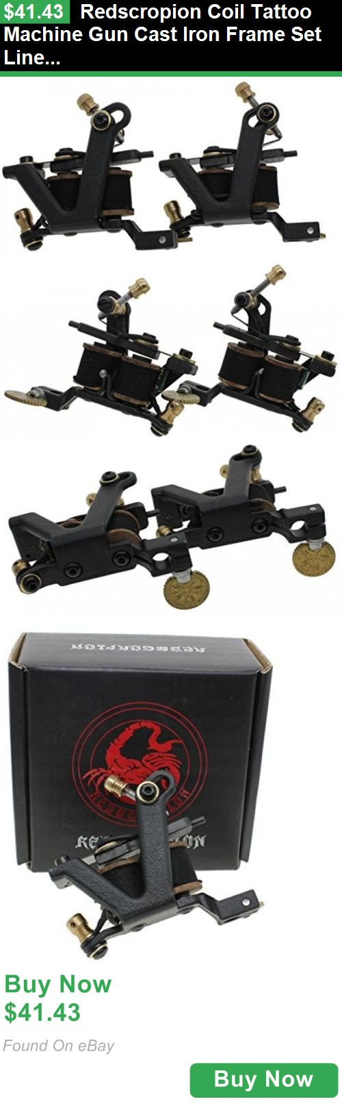 Tattoo Machines and Parts 33917: Redscropion Coil Tattoo Machine Gun Cast Iron Frame Set Liner Shader For Tattoo BUY IT NOW ONLY: $41.43
