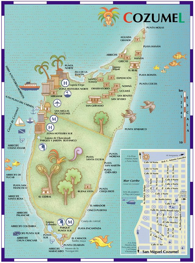 cozumel mexico | Maps of Mexico: The Island of Cozumel