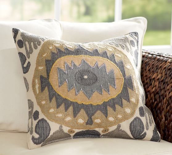 Nadia Ikat Pillow Cover Pottery Barn Evin Pinterest