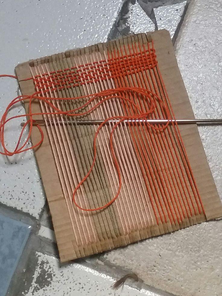 Cardboard sample loom