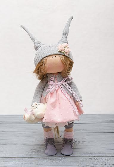 Susie muñeca hecha a mano muñeca-textil por BroderieLittleCorner