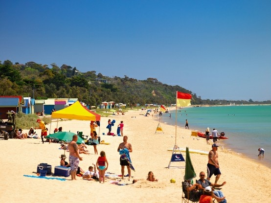 Dromana Beach, Mornington Peninsula, Victoria, Australia.