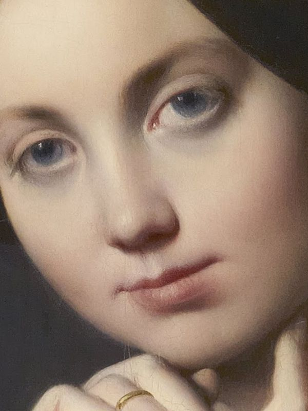 Comtesse d'Haussonville (detail) / Jean-August-Dominique Ingres / Oil on canvas, 1845 / The Frick Collection
