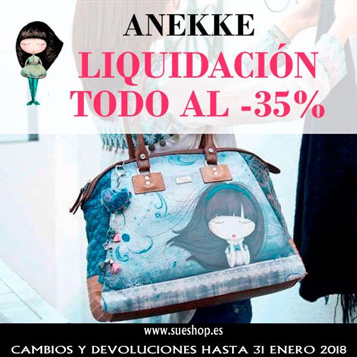 Aprovéchate de nuestros artículos en liquidación Anekke y consigue Bolsos, Mochilas, Paraguas, Artículos de Papelería,... todo con un 35% de descuento!!  @sueshop_es #anekke #liquidacion #descuento #oferta #bolsos #papeleria #paraguas #mochilas #sueshop
