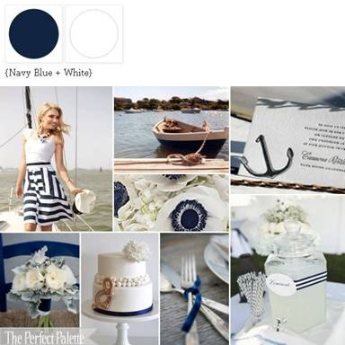 {Sail Away With Me}: A Palette of Navy Blue + WhiteEngagement Parties, Spring Colors, Blue Parties, Colors Palettes, Nautical Theme, Monaco Blue, Colours Palettes, Navy Blue, Blue Wedding