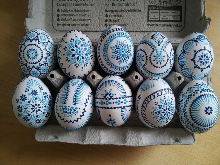 Ostereier, Sorbische Ostereier, Ostereier in Pastell, wendish eggs, easter eggs, art, craft