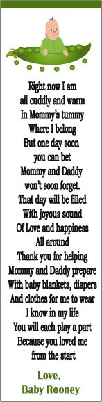 Cute Poem For Baby Shower Favor Boxes Or Thank You Cards Jennifer Gutierrez