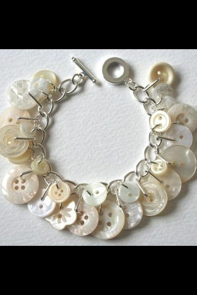 DIY button necklace or bracelet