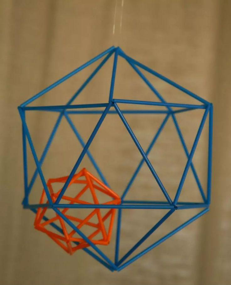 Exemple de création d'un Himmeli - Atelier de loisir créatif à Paris